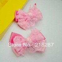 2013 new hot selling 24pcs/lot Cute Lace Bows Hair clips/Kids/Children/Baby/Girls/Princess/Hair Pins/Hair Accessories