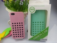Fashion Breathable mesh Case For Apple  iPhone 5 5S  Cell Hard Back Case Skin Cover House Protector Free Shipping