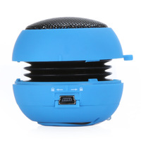 Mini Hamburger Subwoofer Speaker Portable Amplifier 3.5mm For MP3 iPhone iPod PC Laptop Blue