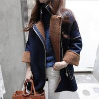 Medium-long berber fleece outerwear suede fabric female cotton-padded jacket female winter outerwear