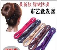5406 cloth button pointed toe hair stick ruffle fabric involucres meatball head hair stick hair maker