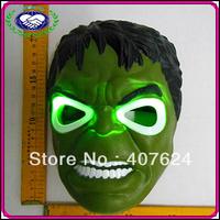 free shipping 10pcs/lot China Manufacturer Movie Mask Super Man Hero Hulk Costume LED Hulk Mask Kids Mask For Children Cosplay