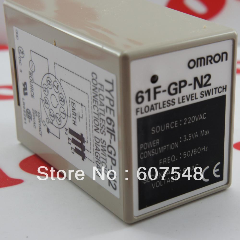 Omron Floatless Level Switch 61F-GP-N2 AC220 PlugIn NIB(China (Mainland))