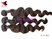 "Free Shipping Queen Hair Products 5A Brazilian Virgin hair extensions Human Hair Loose Wave Wavy Natural Color 8""-32"" 3bundles"