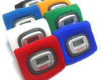 High Quality Blue Sports and Fitness Wrist Pedometers ABS and Cotton Material Free Shipping