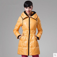 New Arrival Korean style Fashion Winter Women's long Slim Hooded Duck Down Coat Women Down Jacket Plus Size XL XXL XXXL