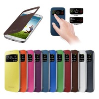 Galaxy S4 Mini S-View Cover Flip Battery Housing Cover Folio PU Leather Cases for Samsung Galaxy S4 Mini i9190