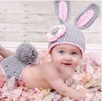 2014 Fashion Boy Girl Baby Beanie Costume Hats Sets Photo Props Crochet 0-6 Months