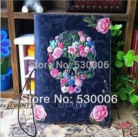 Wholesale New Arrival Fashion Punk 3D Skull&Rose Flowers Short Design Travel Passport Holder Cover/ID Card Case Bag