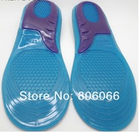 100pairs/lot massage gel insole, sport silicone insoles Free Shipping Wholesale