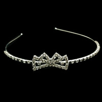 Free Shipping Hot Sale Korean Style Fashion Bow Princess Rhinestone Bridal Tiaras Crowns Hairbands Customized