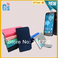 For Alcatel One Touch Pop C7 Leather Flip case  Via Free DHL Shipping