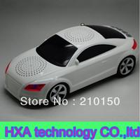 Fashion  new car speaker, new mini music creative car shape speaker with usb TF FM led display