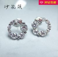 Sand flower shz 925 pure silver stud earring ascendent earring gift aesthetic