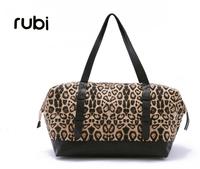 2014 new arrival Leopard print women's handbag large capacity canvas bag handbag black casual  travel bag shoulder bags