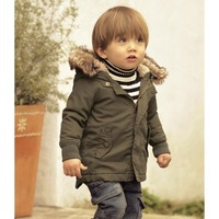 Retail, Boys Fashion Cotton-Padded Clothes, Boys Warm Hooded Coat,Children Winter Jacket,Freeshipping , IN STOCK