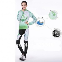 New  Fleece Thermal Winter Women Cycling Bike Bicycle Clothing Jersey + Pants