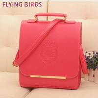 FLYING BIRDS! 2014 new arrive Hot selling Retro shoulder bag multifunction  women messenger handbags leather backpack LS1220
