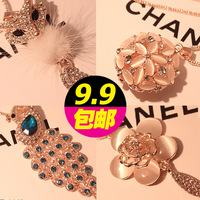 9.9 accessories decoration chain cat-eye fox peacock necklace long necklace female