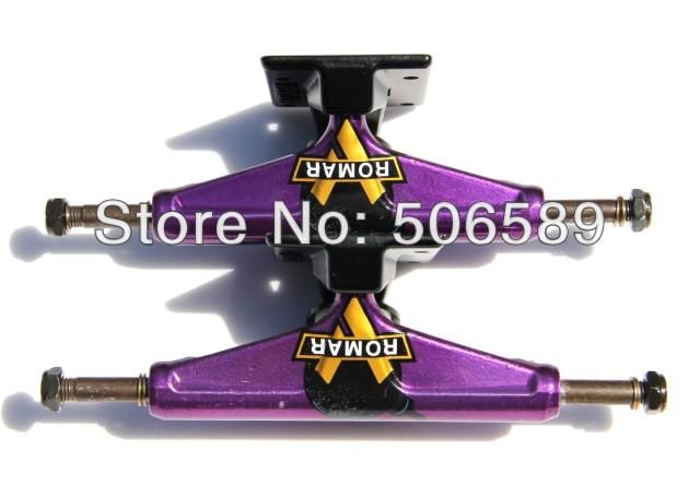 free shipping skateboard truck purple(China (Mainland))