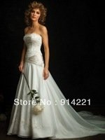 2014 A Line Floor Length Sleeveless Sweep Brush Train Off the Shoulder Lace Up Bridal gown