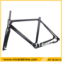 Full carbon 3k Disk brake cyclocross frame,Di2 inner cable bike frame cyclo cross