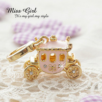 Free shipping Miss girl gold series dream fairy tale princess carriage pendant