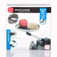 Swivel saucer car cup holder food rack glass rack