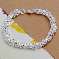 B093 Christmas gift 2014 New 925 sterling silver Fashion Jewelry Longtou men charm bracelets&bangle,Wholesale jewelry