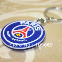 Paris saint germain  soft pvc keychain /  bule key holder  5pcs/lot