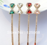 Free Shipping!New Hot Sale Rhinestone Bow Hair Barrettes Fashion Hairclips For Women/Girls Elegant Barrettes Hair Accessory