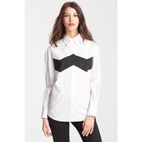 2014 New Fashion Ladies' Classic black white mixed colors blouse elegant office lady long sleeve Shirt