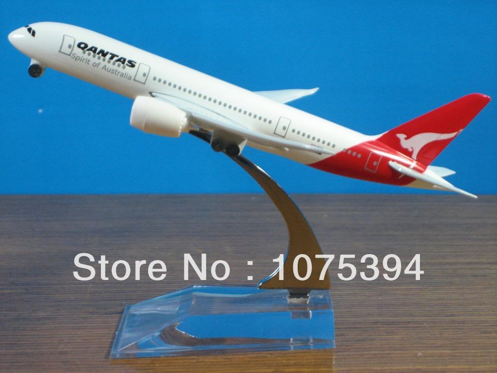 Solid QANTAS Spirit of Australia B787 Passenger Airplane Plane Aircraft Metal Diecast Model Collection Free Shipping(China (Mainland))