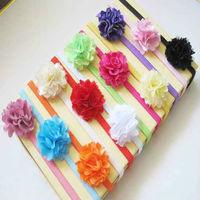 2013 new style cute headband baby,silk lace chiffon fabric flower kid headwear/ headband for girl/children+free shipping