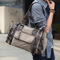 Male fashion male shoulder bag fashionable canvas bag casual big bag messenger bag handbag travel bag male
