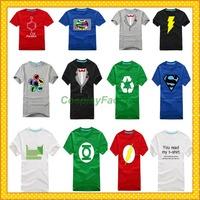 Free Shipping The Big Bang Blitzmann Green Lantern O-Neck Cotton Tshirt,0.5kg/pc