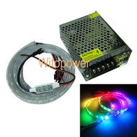 1M 60 Leds WS2812B WS2811 IC 5050 RGB LED Strip  Individual Addressable  waterproof 5V & Mini Controller & Power supply