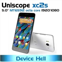 pre-order 5.0 inch original uniscope xc2s mtk6592 octa core 2gb ram gorilla glass 13mp + 5mp dual camera OTG NFC free shipping