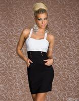 Black White Patchwork Sexy Clubbing Wears Bodycon Dresses Women Midi Dress