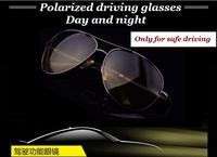 2015 brand sunglasses high-end men's driving glasses, dual-use night vision Goggle sunglass polarized sunglasses A103