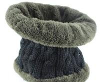 g Winter plus velvet thickening muffler scarf male female scarf collars cashmere rabbit wool knitted yarn scarf muffler thermal