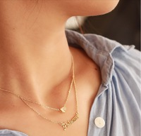 Alphabet love clavicle chain double rice millet female Kintaro Lu Lu necklace