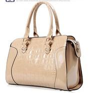 Fashion women's handbag japanned leather handbag messenger bag bag banquet bag fashion stone pattern bags