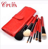 Makeup pupa brush set 8 quality mink professional makeup brush set make-up brush set bag three-color
