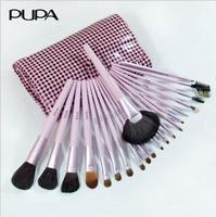 Pupa powder 21 quality professional animal wool makeup cosmetic brush set