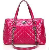 2013 Real genuine leather handbags designers brand fashion handbag women plaid shoulder bag designers brand messenger bags
