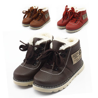 winter Children thickening cotton-padded shoes children baby shoes boots