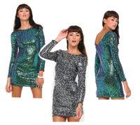 Sexy Women V Back Criss Cross Sequin Stretch Bodycon Party Prom Clubwear Dress Hot Sale Wholesale Clubwear Evening