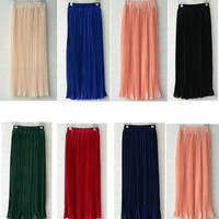 New arrival mid-calf office skirts pleated long formal skirts women 2014