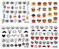 new produce  8 pieces cartoon KT4-2-4 3d nail art decal stickersFREE SHIPPING